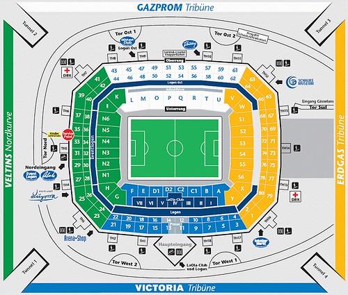 Mappa stadio VELTIS-Arena di Gelsenkirchen