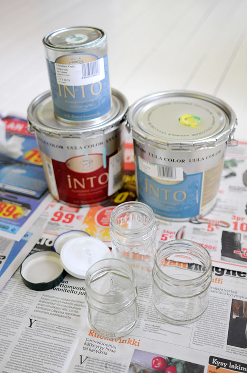 Painting glass jars