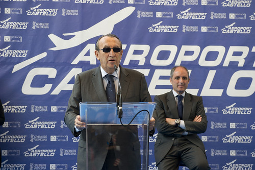 Carlos Fabra en la inauguracion del Aeropuerto