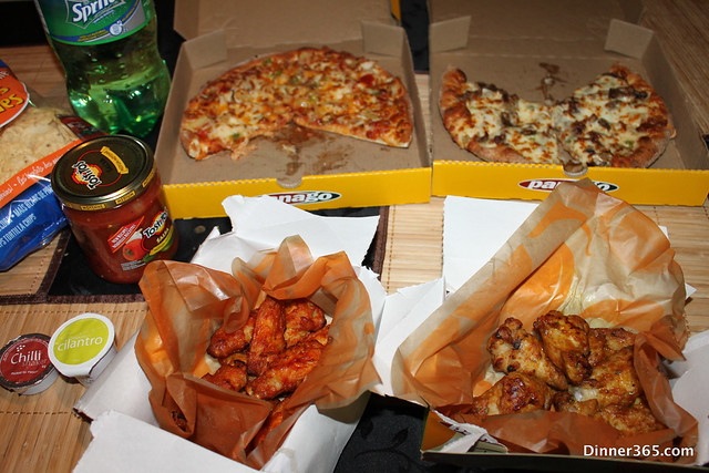 Day 98 - Pizza and Chicken wings