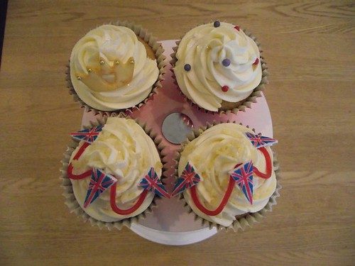 5602407475 185749d853 Royal Wedding, British Cupcakes for Prince William and Kate Middleton   Or the Queens Jubilee!
