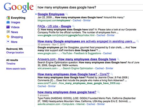 google responses to how many employees does google have?