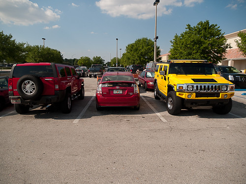 Hummers to the left of me, Hummers to the right