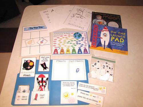Astronaunt Preschool Pack