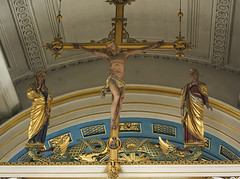 Behold the Saviour of the World (Lawrence OP) Tags: london christ cross jesus chapel virginmary mayfair rood crucifixion grosvenor stjohntheevangelist comper serprents
