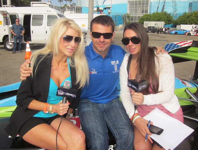 Jennifer Lexon, Oriol Servia, MaryAnne Siena, Toyota Grand Prix Long Beach