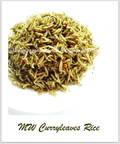 MW curryleaves rice