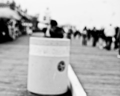 Pedestrians (@n@nd@m) Tags: california bw white black film monochrome 50mm iso100 la pier us losangeles nikon fuji superia santamonica pedestrians f4 reala