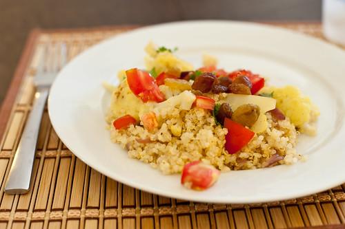 Curried Cauliflower with Quinoa