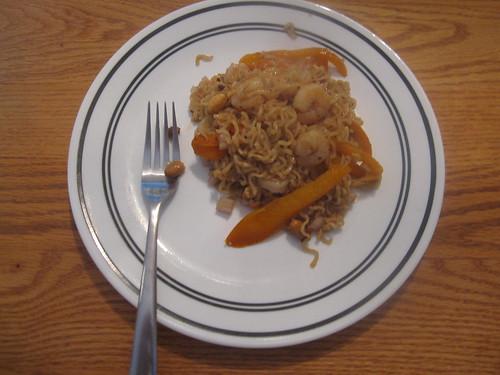 Kung Pao Shrimp Skillet Meal