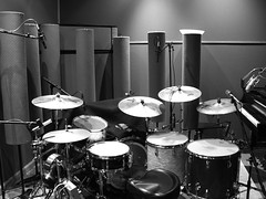 Drum set-up for Lisa Firestone album