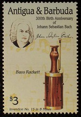 Bach on Stamps - Antigua & Barbuda 4, 2000 (renzodionigi) Tags: music bach baroque composers