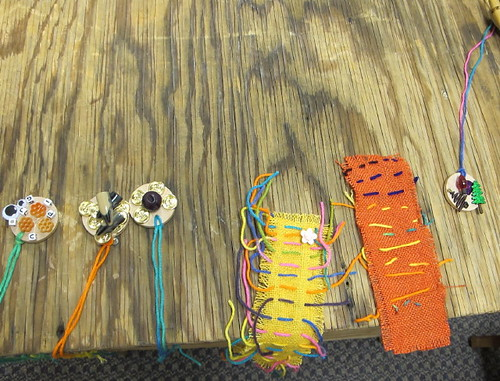 Some of the created items from the first craft class...