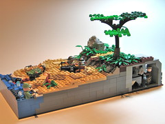 The Defense of Wake Island, December 21st, 1941 ([DustyBricks]) Tags: beach japanese lego wwii spotlight bunker americans marines defense ijn wakeisland