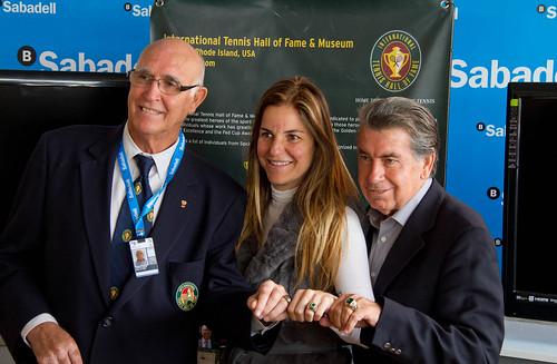 Entrega de los anillos de oro del Hall of Fame en el Barcelona Open Banc Sabadell 2011