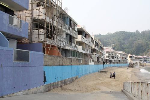 Guest houses along the beach at Cheung Chau