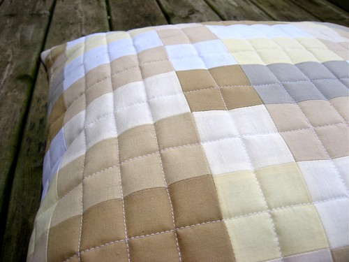 Neutral Grid Pillow