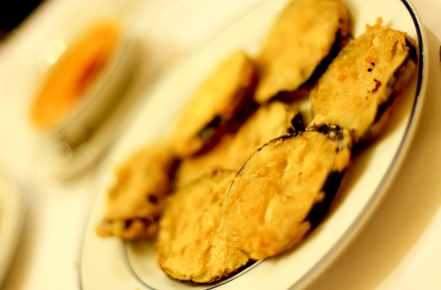Fried Aubergine at Restaurant Botin