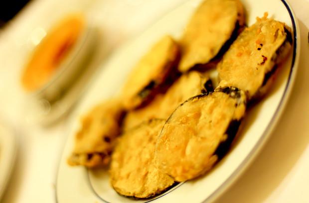 Fried Aubergine at Restaurant Botin
