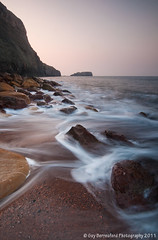 Saltwick Bay, Whitby (GuyBerresfordPhotography.co.uk) Tags: sea cliff beach water sunrise dawn coast sand rocks waves yorkshire boulders shore whitby whale slowwater saltwickbay saltwicknab guyberresfordphotography