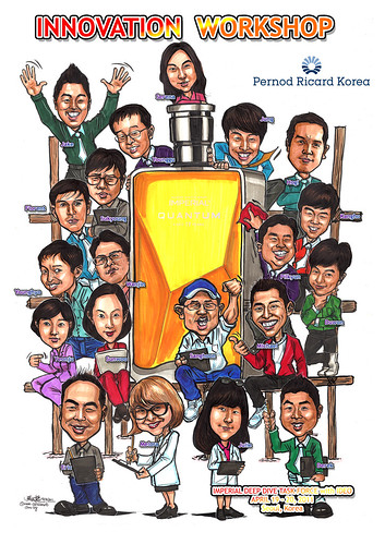 Caricatures for Pernod Ricard Korea (names)