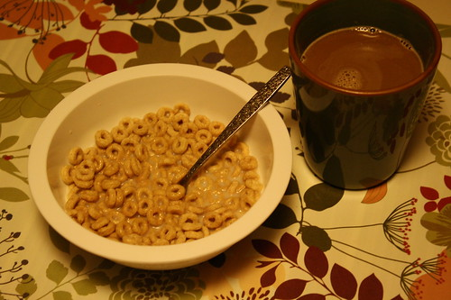 cheerios, coffee