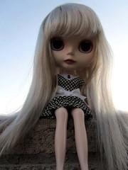 long silky silvery loveliness :) (*phillaine*) Tags: chat doll blythe custom cappuccino takara matte sloane rbl dotz