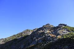 西穂高岳に向かう岩場