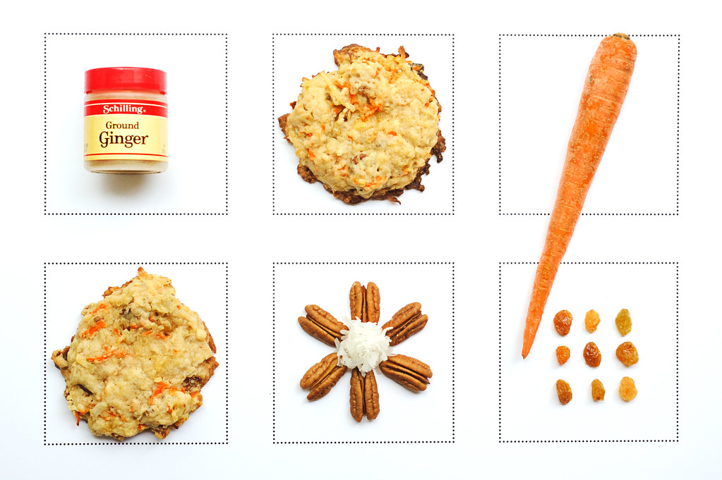 Gingered carrot cake cookies