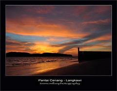 Pantai Cenang, Langkawi. (mcmillanoz) Tags: sunset sky sun beach clouds landscape malaysia langkawi pantaicenang seascpae