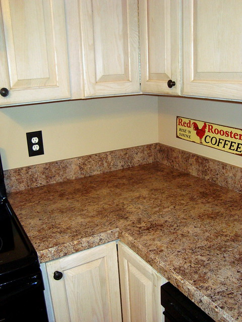 Budget Kitchen Facelift W Formica Butterum Granite