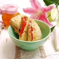 Jam Filled Scones (CruStABakes) Tags: breakfast baking oatmeal scones jam royalwedding englishtea