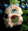 Long Horned Iffiet (Green Elevator) Tags: pink blue cute monster fur rainbow fuzzy handmade crafts magic horns felt ox plush softie stuffedanimal plushie handsewn etsy fleece whimiscal toothysmile fauxfur yearoftheox frenchknots greenelevator wonkeyeyes meganbarbour