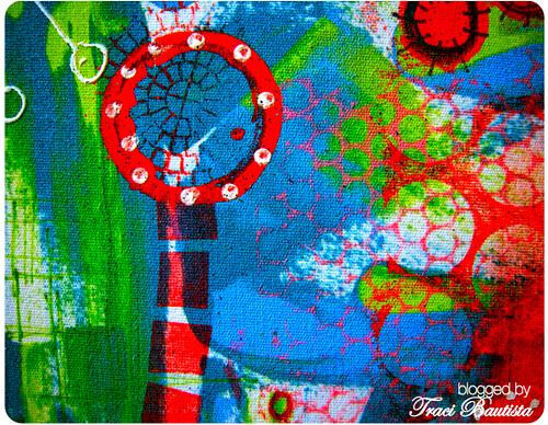 painting on Roc-lon multi-prurpose cloth