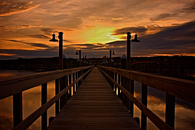 Sheepscot Harbor Pier HDR