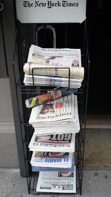 Newspaper Headlines This Morning in NYC #walkingtoworktoday
