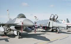 F-16C and F-4G USAFE (Nigel Musgrove-2.5 million views-thank you!) Tags: england germany general ab gloucestershire ii falcon 1991 fighting phantom douglas dynamics raf 52 fw fairford mcdonnell f4g 81st tfs spangdahlem iat f16c usafe 697212 860366