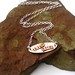Live Life copper and sterling silver necklace