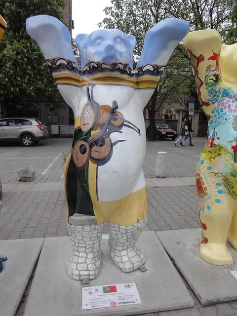 Fotografia do United Buddy Bear português em Sofia