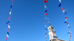 Jour de fete (ambo333) Tags: uk blue red party england white banner flags cumbria marketplace carlisle brampton frontstreet streetparty bunting royalwedding moothall carlislecumbria theroyalwedding kateandwill