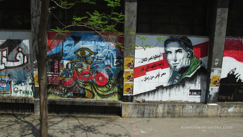 Egyptian street art murals in Cairo