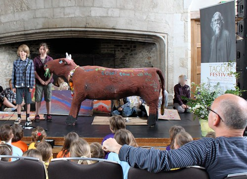 The cow on stage