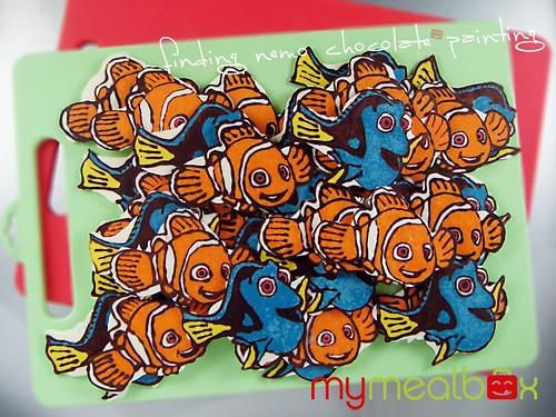Finding Nemo chocolate painting