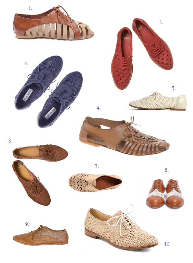 Summer Lace-ups woven oxfords