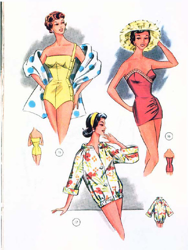 Swimsuit patterns 1959