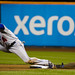 Jose Reyes steals second base