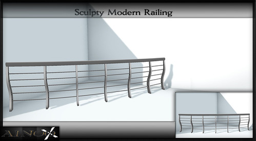 - Ainoo Railing set 1 - Sculpty Modern Railing by Ainoo By Alexx Pelia