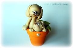 Dia de la madre (ArtWen) Tags: cachorro perrito diamadre festamamma porcelanafriapicnik