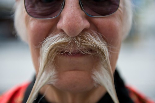Ted Sedman - Silver in Chinese / Fu-Manchu category, World Beard and Moustache Championships 2011