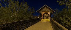 Crossing at night can be more fun (~Stingrays~) Tags: bridge wooden guelph covered